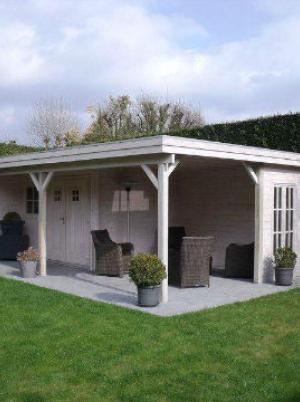 Poolhouse met plat dak