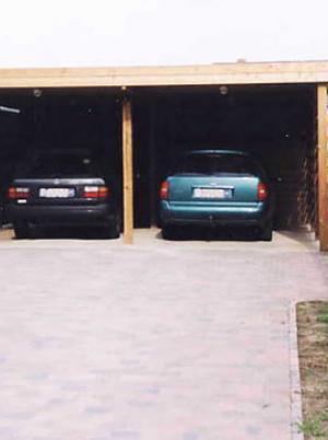 Carports in hout met plat dak